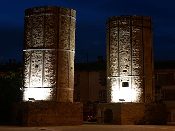 iluminación led teatro romano Sagunto